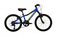 "Bicicleta CORRATEC X-Vert Kid 20"" albastru reflex/galben neon/negru"